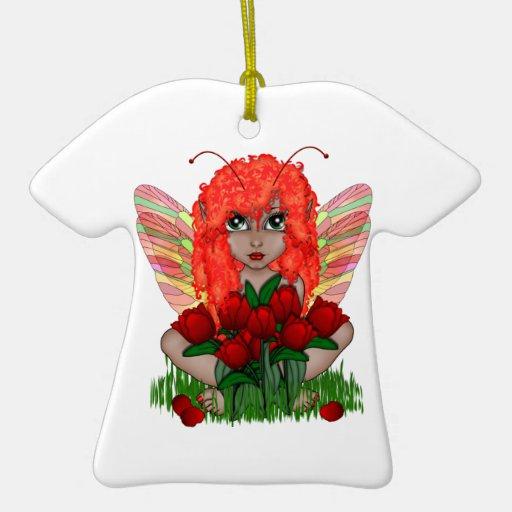Ornamento de hadas floral adorno