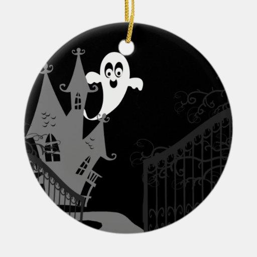 Ornamento de Halloween de la casa encantada Ornaments Para Arbol De Navidad