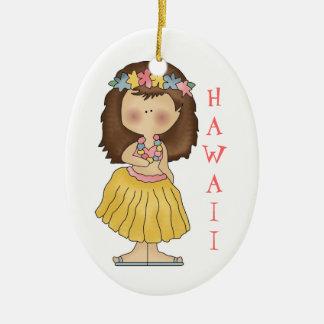 Ornamento de Hawaii del chica de Hula Adorno De Navidad