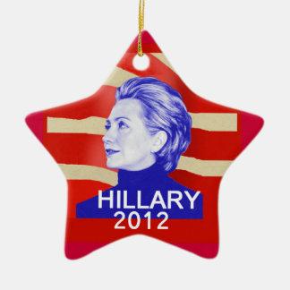 Ornamento de Hillary 2012 Adorno Navideño De Cerámica En Forma De Estrella