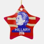 Ornamento de Hillary 2016 Adorno Navideño De Cerámica En Forma De Estrella