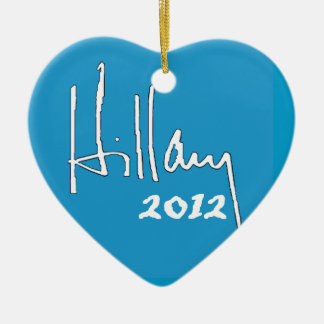 Ornamento de Hillary Clinton 2012 Adorno Navideño De Cerámica En Forma De Corazón