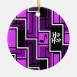Ornamento de Hip Hop, personalizable Adornos