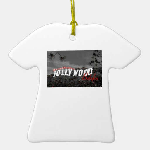 Ornamento de Hollywood Babilonia de las Felices Adorno Navideño De Cerámica En Forma De Playera