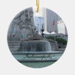 Ornamento de Indianapolis Adorno Navideño Redondo De Cerámica