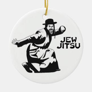 Ornamento de Jitsu del judío Adorno Navideño Redondo De Cerámica