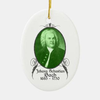 Ornamento de Johann Sebastian Bach Adorno Navideño Ovalado De Cerámica