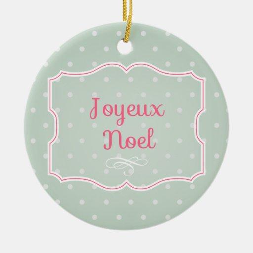 Ornamento de Joyeux Noel Ornato
