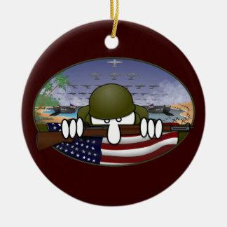 Ornamento de Kilroy de la guerra mundial 2 Adornos De Navidad