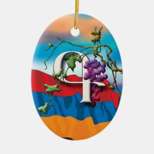 """Ornamento de """"Kim"""" de las iniciales del alfabeto a Adorno De Navidad"""