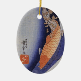 Ornamento de Koi del japonés del vintage Ornamento De Navidad