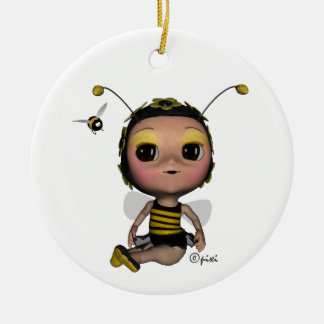 Ornamento de la abeja reina del navidad ornamento de navidad