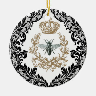 Ornamento de la abeja reina del vintage… adorno para reyes