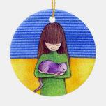 Ornamento de la abrazo del gato ornato
