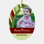 Ornamento de la abuela de las Felices Navidad de l Ornamento Para Arbol De Navidad