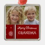 Ornamento de la abuela de las Felices Navidad de l Adornos