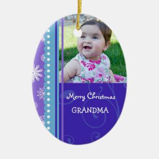Ornamento de la abuela de las Felices Navidad de l Ornamentos De Navidad