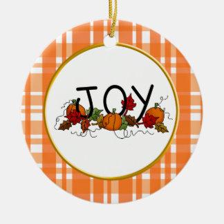 Ornamento de la acción de gracias de la alegría adorno para reyes