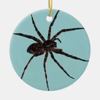 Ornamento de la araña de lobo adorno redondo de cerámica
