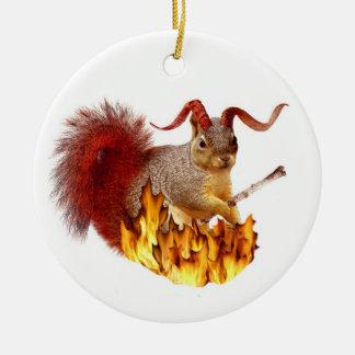 Ornamento de la ardilla de Krampus Adorno De Navidad