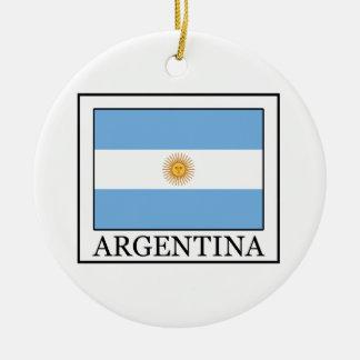 Ornamento de la Argentina Adorno Navideño Redondo De Cerámica
