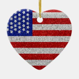 Ornamento de la bandera americana del vintage ornamente de reyes