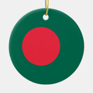 Ornamento de la bandera de Bangladesh Ornamento De Navidad