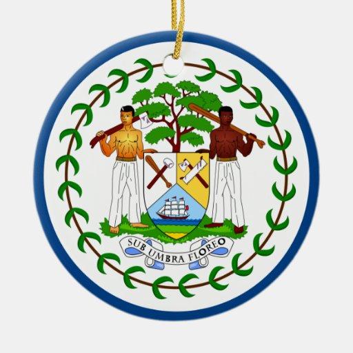 Ornamento de la bandera de Belice Ornaments Para Arbol De Navidad