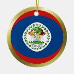 Ornamento de la bandera de Belice Ornamento Para Arbol De Navidad