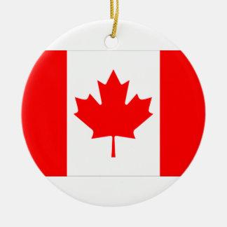 Ornamento de la bandera de Canadá Adorno Redondo De Cerámica