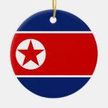 Ornamento de la bandera de Corea del Norte Ornamentos Para Reyes Magos