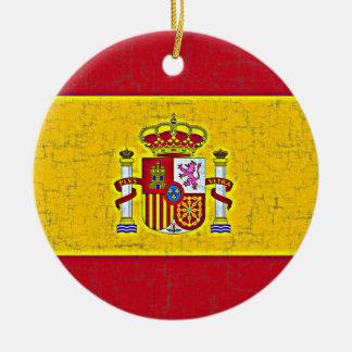 Ornamento de la BANDERA de ESPAÑA Ornaments Para Arbol De Navidad