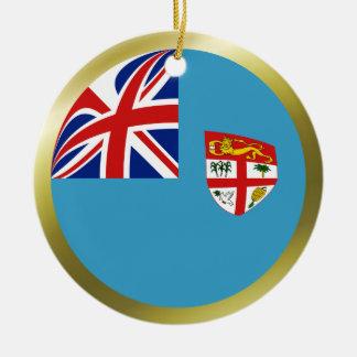 Ornamento de la bandera de Fiji Ornamento De Navidad