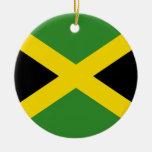 Ornamento de la bandera de Jamaica Adorno Navideño Redondo De Cerámica