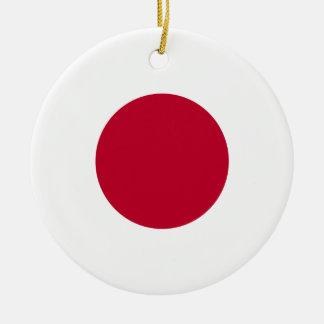 Ornamento de la bandera de Japón Adorno Redondo De Cerámica