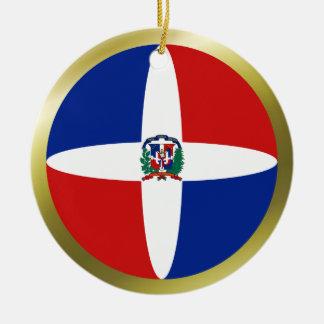 Ornamento de la bandera de la República Dominicana Ornato