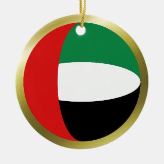Ornamento de la bandera de los UAE Adorno Navideño Redondo De Cerámica