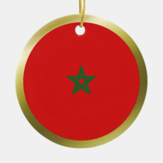 Ornamento de la bandera de Marruecos Adorno De Navidad