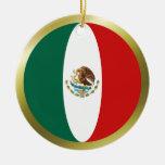 Ornamento de la bandera de México Ornamentos Para Reyes Magos