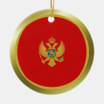 Ornamento de la bandera de Montenegro Ornamentos De Navidad