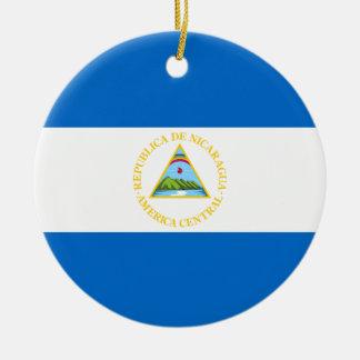 Ornamento de la bandera de Nicaragua Ornamentos Para Reyes Magos