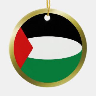 Ornamento de la bandera de Palestina Ornamento Para Arbol De Navidad