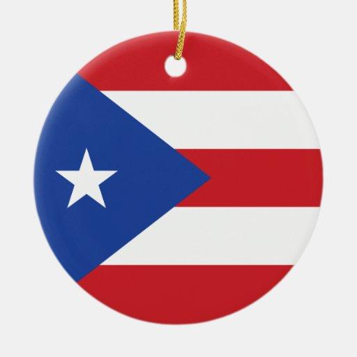 Ornamento de la bandera de Puerto Rico Adorno De Reyes