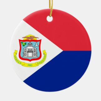 Ornamento de la bandera de San Martín Adorno Redondo De Cerámica