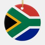 Ornamento de la bandera de Suráfrica Ornaments Para Arbol De Navidad