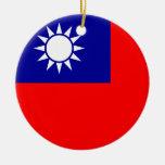 Ornamento de la bandera de Taiwán Ornamento De Reyes Magos