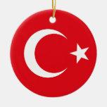 Ornamento de la bandera de Turquía Ornamentos De Reyes