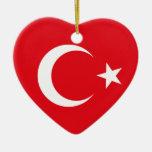 Ornamento de la bandera de Turquía Ornamentos Para Reyes Magos