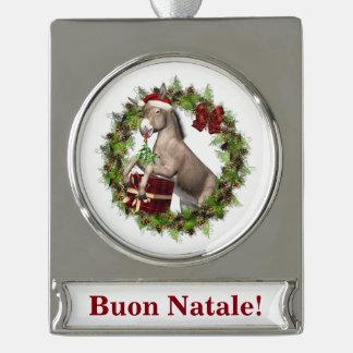 Ornamento de la bandera del burro del navidad de adornos personalizables
