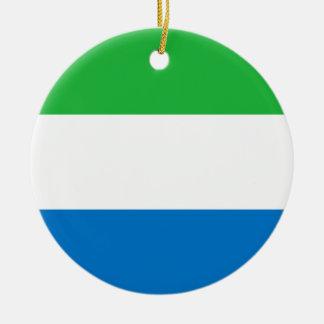 Ornamento de la bandera del Sierra Leone Adorno Para Reyes